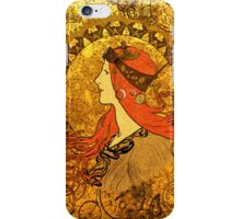 Steampunk Zodiac (Mucha Homage) iPhone Case/Skin