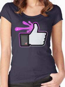 FACEBOOK X GHOSTBUSTERS (GB2 SLIMED) Women's Fitted Scoop T-Shirt