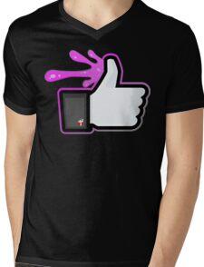 FACEBOOK X GHOSTBUSTERS (GB2 SLIMED) Mens V-Neck T-Shirt