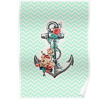 Mint Anchor Poster