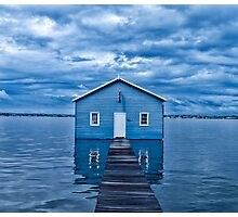 Crawley Edge Boatshed Photographic Print