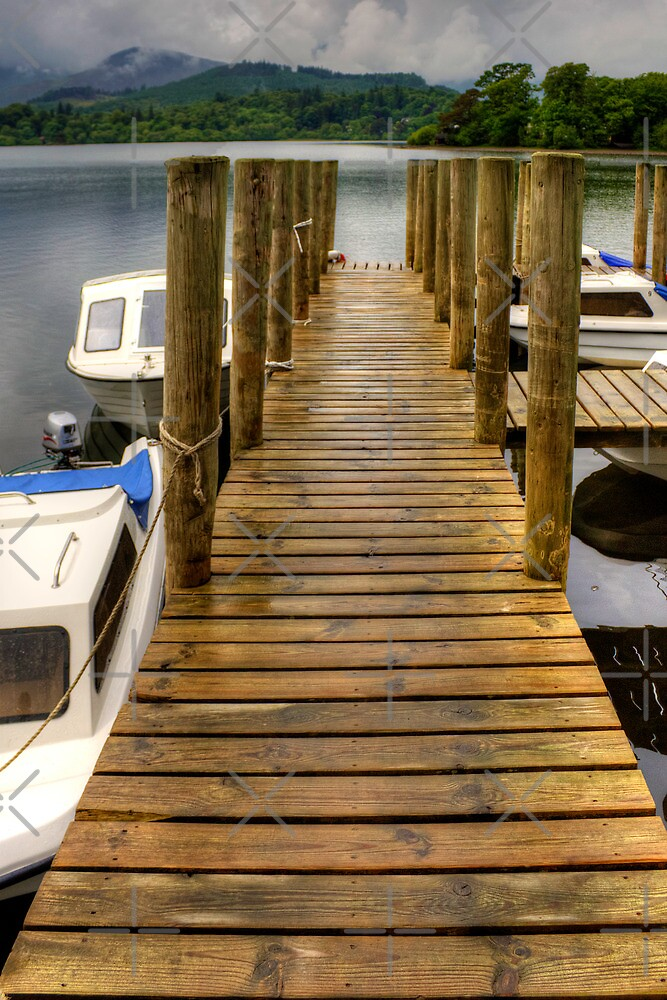 Wooden Pier at Derwentwater by Tom Gomez