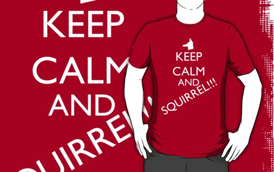 Keep Calm and SQUIRREL! by mahendragon