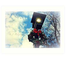 Torch light with wreath Art Print
