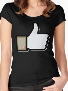 FACEBOOK X GHOSTBUSTERS (GB1) Women's Fitted Scoop T-Shirt
