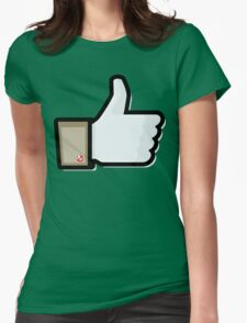 FACEBOOK X GHOSTBUSTERS (GB1) Womens Fitted T-Shirt