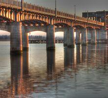 Kincardine Bridge at sunset by cmcqphotography