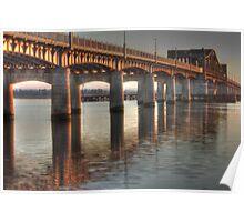 Kincardine Bridge at sunset Poster