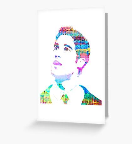 rainbow texture Greeting Card