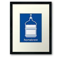 Craft Beer Homebrewing Icon Framed Print