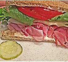 Ham And Cheese Photographic Print
