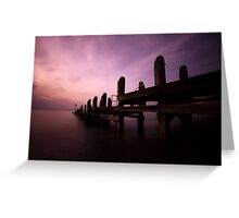 Sunset by the Jetty Greeting Card