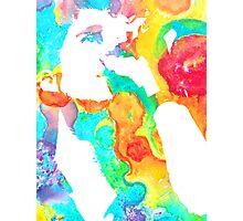 rainbow microphone Photographic Print