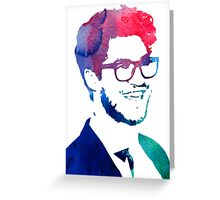 blue/green/pink glasses Greeting Card