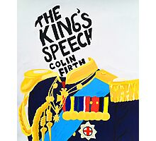 the king's speech  Photographic Print