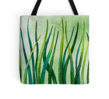 Watercolor Grass Tote Bag