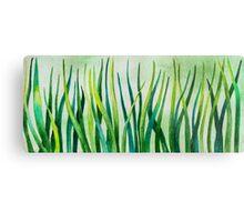 Watercolor Grass Metal Print