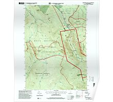 USGS TOPO Map New Hampshire NH Crawford Notch 329516 1995 24000 Poster