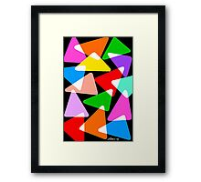 15 COLORFUL TRIANGLES UPDATE Framed Print