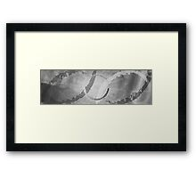 Between The Notes Framed Print