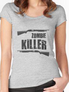 zombie killer shotgun Women's Fitted Scoop T-Shirt