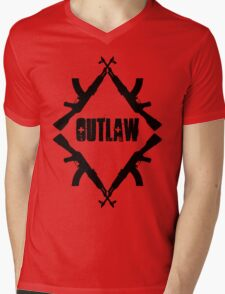 outlaw Mens V-Neck T-Shirt