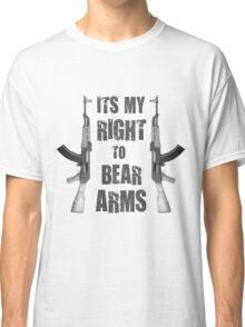 right to bear arms bw Classic T-Shirt