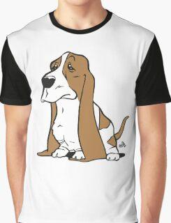 Basset cartoon dog Graphic T-Shirt