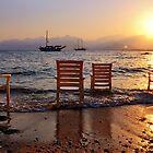 Sunset at Mermerli Beach by Baki Karacay