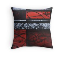 WAVES OF RED Throw Pillow