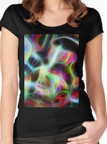 Seagal Abstract Women's Fitted Scoop T-Shirt