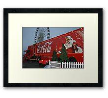 Coca cola truck stop Framed Print
