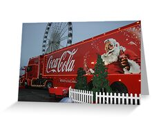 Coca cola truck stop Greeting Card
