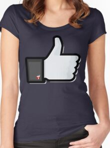 FACEBOOK X GHOSTBUSTERS (GB2) Women's Fitted Scoop T-Shirt
