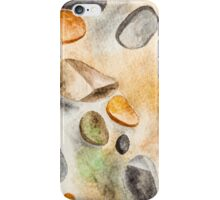 Watercolor Ground Stones Background iPhone Case/Skin