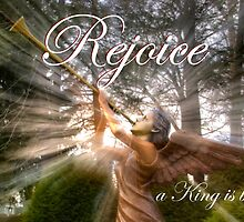 Rejoice, a King is born! - Christmas Card by Gene Walls