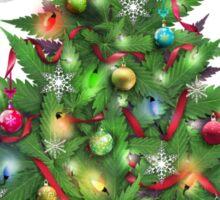 Marijuana Christmas Tree Sticker
