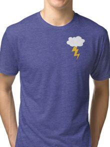Struck By Lightning Hoodie Tri-blend T-Shirt