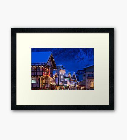 Christmas in Leavenworth Framed Print