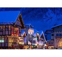 Christmas in Leavenworth Photographic Print