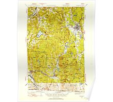 USGS TOPO Map New Hampshire NH Keene 330116 1932 62500 Poster