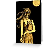 Nocturnal (Gold) Greeting Card