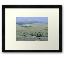 Approaching Postbridge - Lawrence Dyer oil painting Framed Print