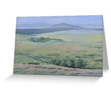 Approaching Postbridge - Lawrence Dyer oil painting Greeting Card
