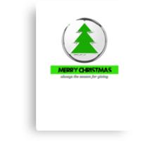 merry Christmas the season for giving Canvas Print