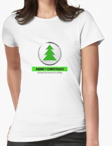 merry Christmas the season for giving Womens Fitted T-Shirt