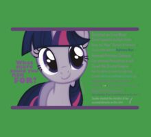 What else could anyone possibly ask for? (Twilight Sparkle) One Piece - Short Sleeve