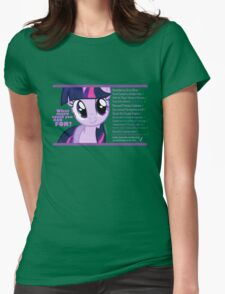 What else could anyone possibly ask for? (Twilight Sparkle) Womens Fitted T-Shirt