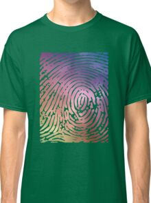 Rainbow Fingerprint. Classic T-Shirt