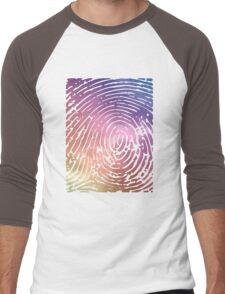 Rainbow Fingerprint. Men's Baseball ¾ T-Shirt